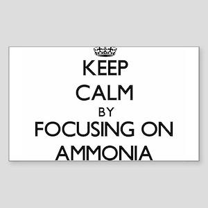 Keep Calm by focusing on Ammonia Sticker