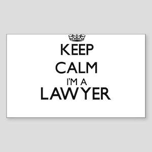 Keep calm I'm a Lawyer Sticker