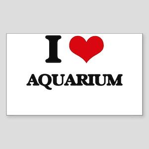 I Love Aquarium Sticker