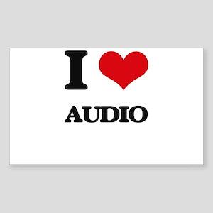 I Love Audio Sticker
