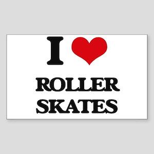 I Love Roller Skates Sticker
