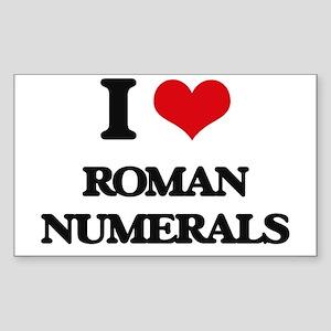 I Love Roman Numerals Sticker