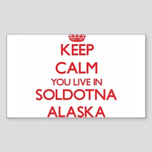 Keep calm you live in Soldotna Alaska Sticker