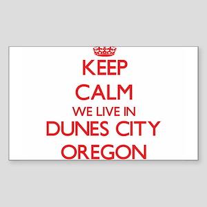 Keep calm we live in Dunes City Oregon Sticker