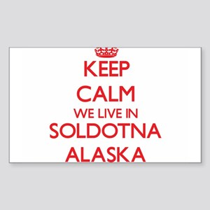 Keep calm we live in Soldotna Alaska Sticker