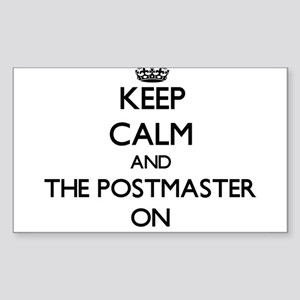 Keep Calm and The Postmaster ON Sticker