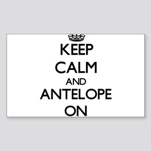 Keep Calm and Antelope ON Sticker