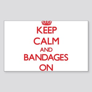 Keep Calm and Bandages ON Sticker