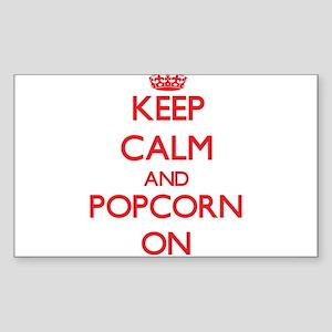 Keep Calm and Popcorn ON Sticker
