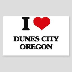 I love Dunes City Oregon Sticker