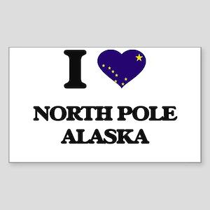 I love North Pole Alaska Sticker