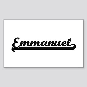 Emmanuel Classic Retro Name Design Sticker