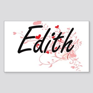 Edith Artistic Name Design with Hearts Sticker