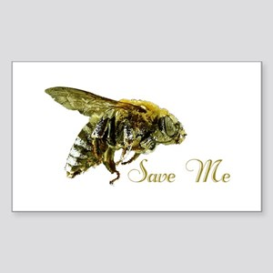 Save Me Bee Sticker (Rectangle)