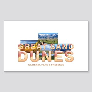 Great Sand Dunes Sticker (Rectangle)