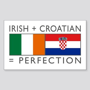 Irish Croatian flags Sticker (Rectangle)