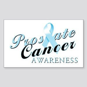 Prostate Cancer Awareness Sticker (Rectangle)