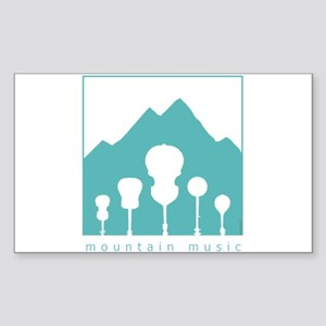 Mountain Music Sticker (Rectangle)