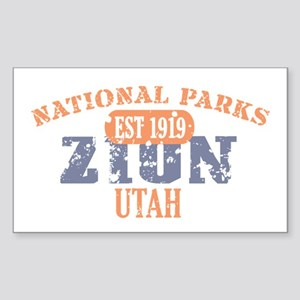 Zion National Park Utah Sticker (Rectangle)