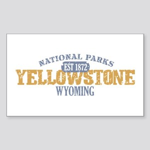 Yellowstone National Park WY Sticker (Rectangle)