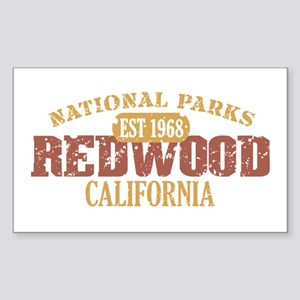 Redwood National Park CA Sticker (Rectangle)
