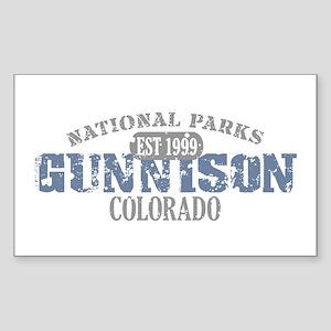 Gunnison National Park CO Sticker (Rectangle)