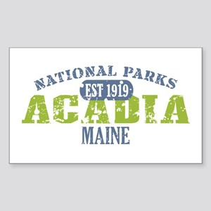 Acadia National Park Maine Sticker (Rectangle)