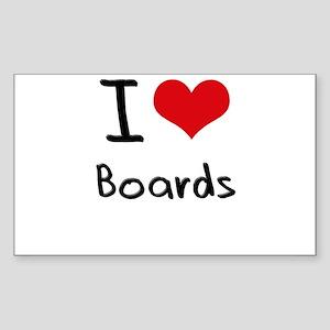 I Love Boards Sticker