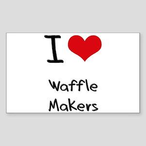 I love Waffle Makers Sticker