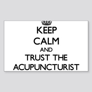 Keep Calm and Trust the Acupuncturist Sticker