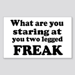 Two legged Freak Sticker