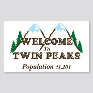 Welcome To Twin Peaks Sticker (Rectangle)