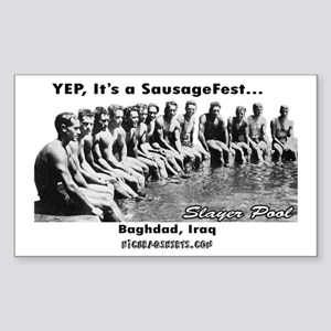 Sausage Fest Slayer Pool Rectangle Sticker