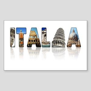 Italian pride Rectangle Sticker