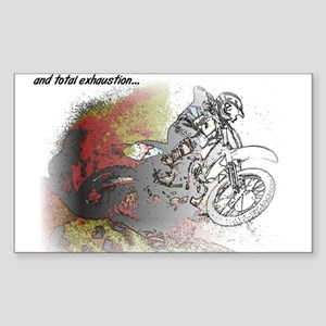 The Real Fun Begins Dirt Bike Motocross Sticker