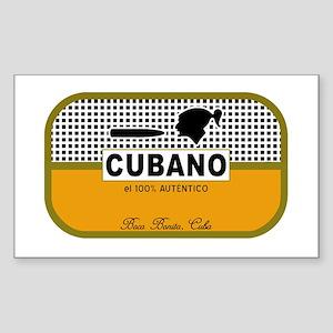 CUBANO el 100% Autentico Alternate Sticker (Rectan