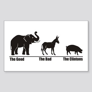 The Good The Bad Rectangle Sticker