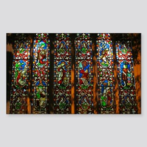 christ church cathedral window Sticker (Rectangle)