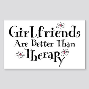 Girlfriend Therapy Rectangle Sticker