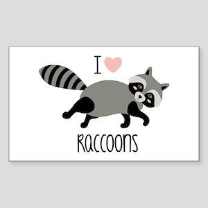 I Love Raccoons Sticker