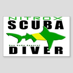 Scuba Diver Shark NITROX 6.5x1 Sticker (Rectangle)