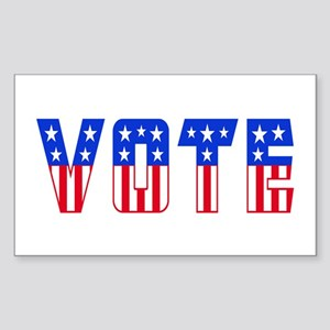 Red White and Blue Stars and Stripes VOTE Sticker