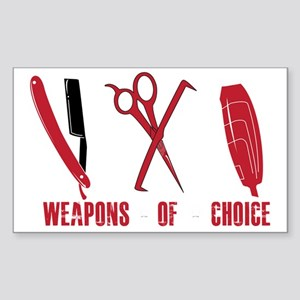 Barber Red Tools of the Trade  Sticker (Rectangle)