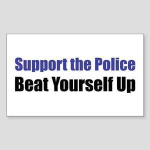 Support the Police Rectangle Sticker