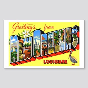 New Orleans Louisiana Greetings Sticker (Rectangle