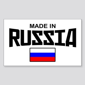 Made in Russia Rectangle Sticker