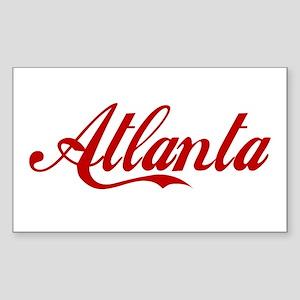 ATLANTA SCRIPT Rectangle Sticker