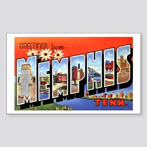 Memphis Tennessee Greetings Rectangle Sticker