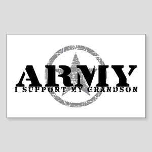 Army - I Support My Granson Rectangle Sticker