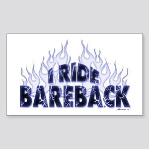 I ride Bareback Rectangle Sticker